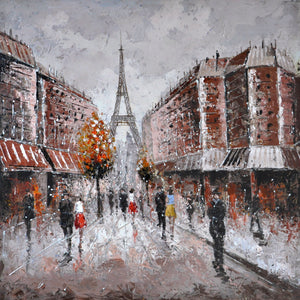 Paris Cityscape Oil Painting - paintingsonline.com.au