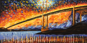 Bridge Large Canvas Painting - paintingsonline.com.au