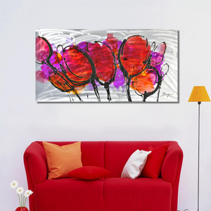 Pink Poppy on Metal Canvas - paintingsonline.com.au
