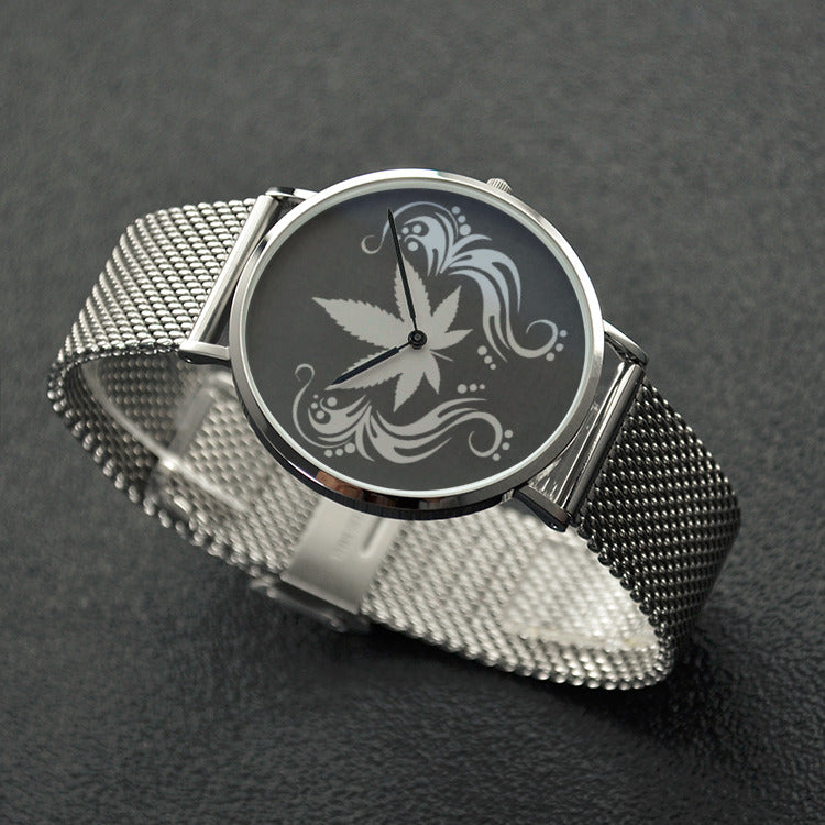 Cannabis Flourish Stainless Steel Watch