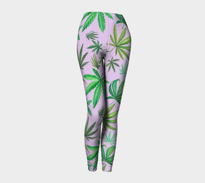 Leaves on Lavender Leggings