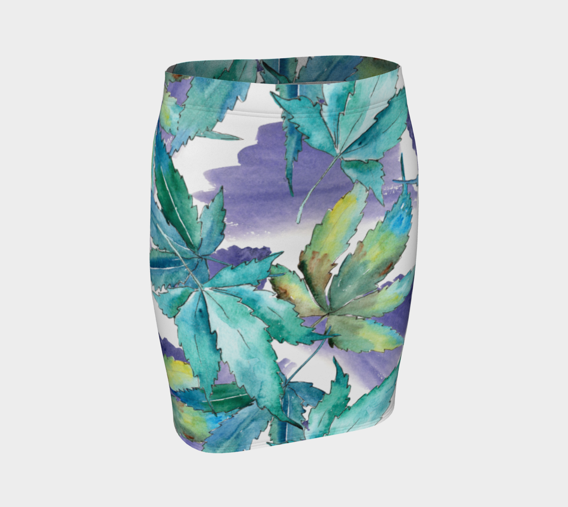 Watercolor Skirt in Purple