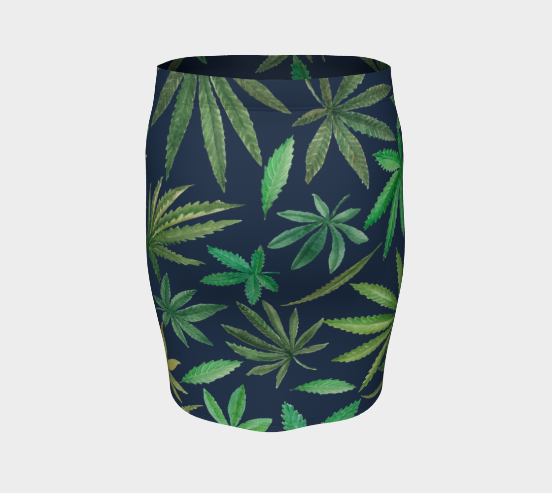 Watercolor Cannabis Skirt
