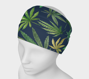 Watercolor Cannabis Headband