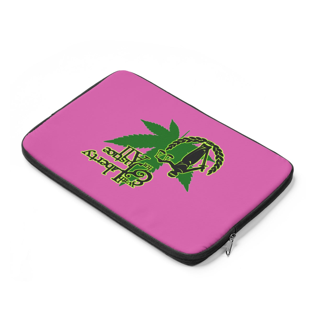 Liberty & Justice Laptop Sleeve, Raspberry
