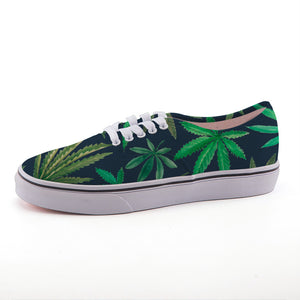 Watercolor Cannabis Canvas Shoes