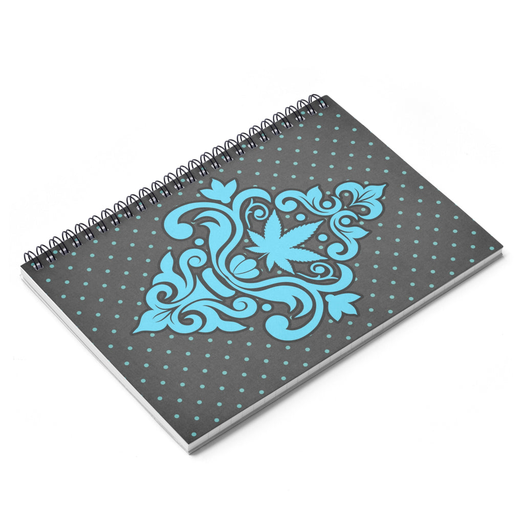 Cannabis Damask Spiral Notebook