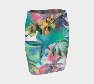 Watercolor Skirt in Multicolor