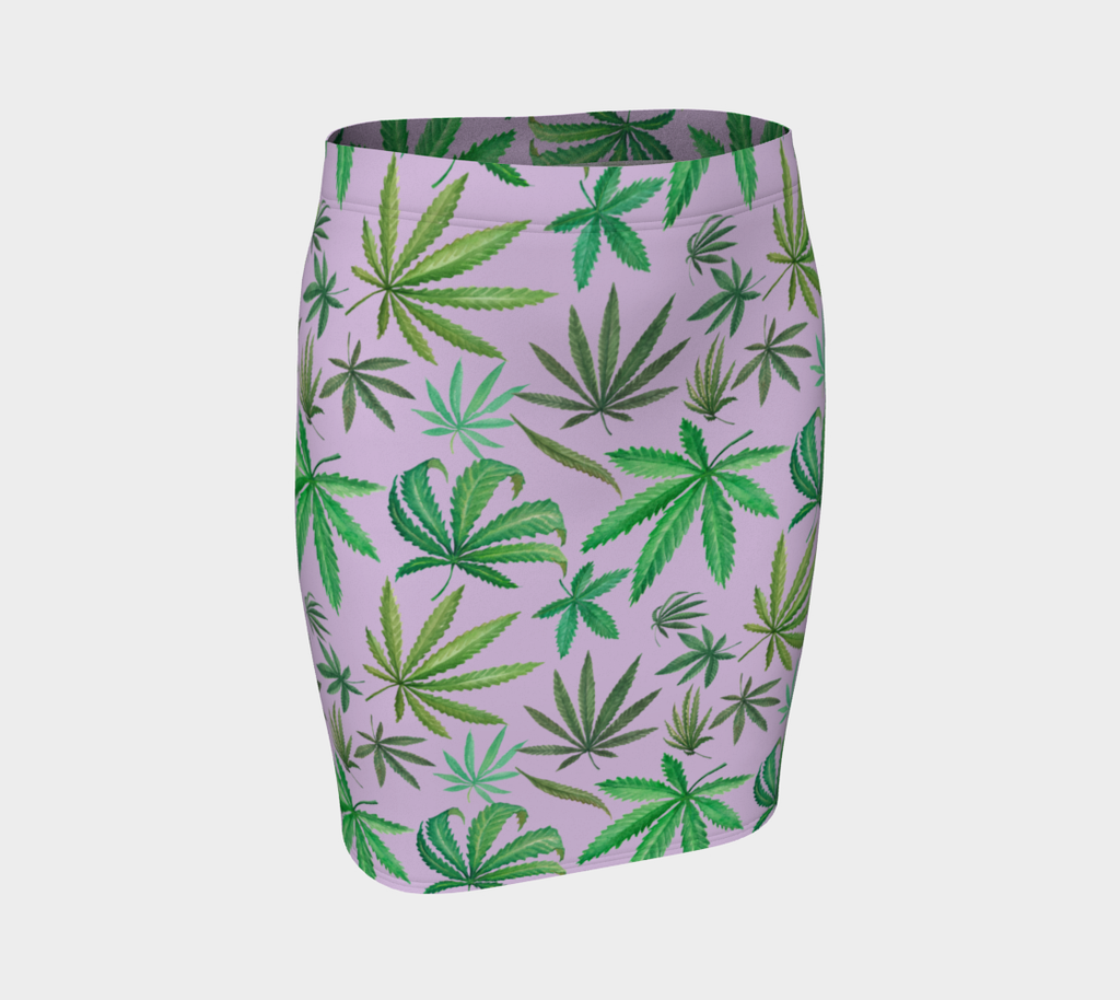 Leaves on Lavender Skirt
