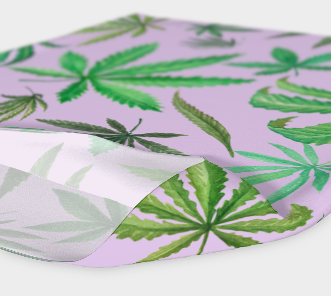 Leaves on Lavender Headband