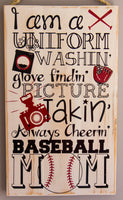 Baseball Mom Wall Art