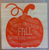 Fall Pumpkin Wall Art