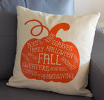 Fall Pumpkin Throw Pillow