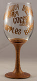 Fall Wine Glass Copper