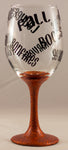 Fall Wine Glass Pumpkin/Black