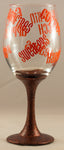 Fall Wine Glass Brown/Orange
