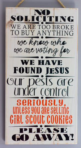 No Soliciting Wall Art