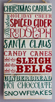 Christmas Phrases Wall Art