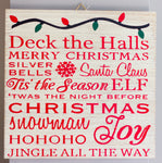 Deck the Halls Christmas Wall Art