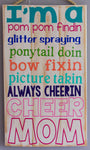 Cheer Mom Wall Art