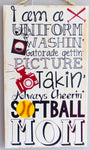Softball Mom Wall Art