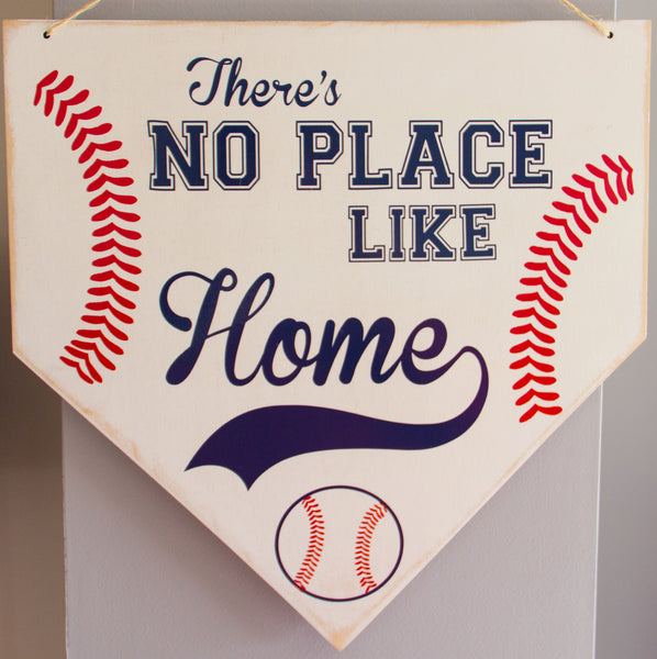 There's No Place Like Home Baseball Plate Wall Art