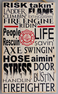 Fire Fighter Wall Art