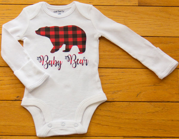 """Baby Bear"" Baby long sleeve body suit"