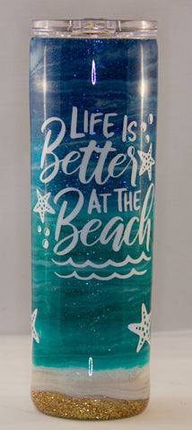 Life is Better at the Beach Epoxy 30 ounce Tumbler
