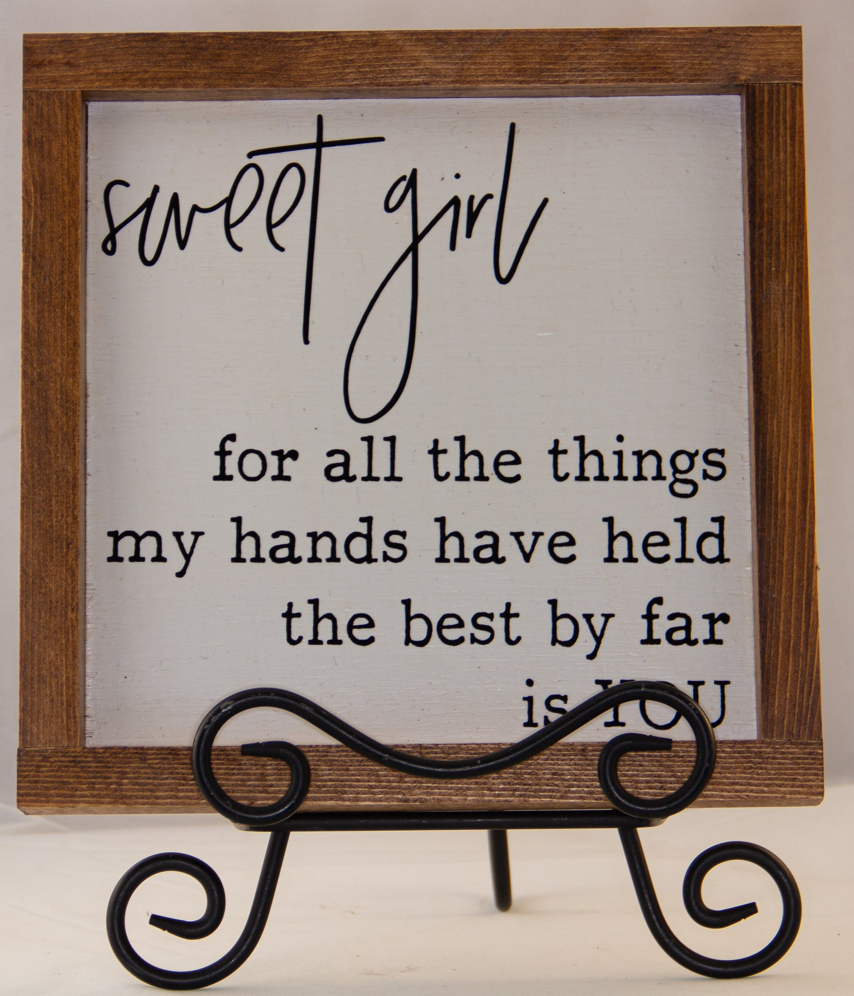 Sweet Girl WALL ART 10X10