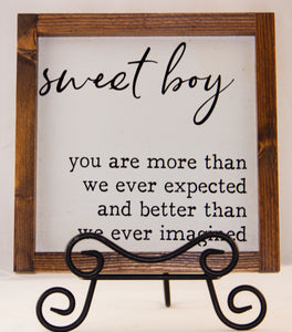 Sweet Boy WALL ART 10X10
