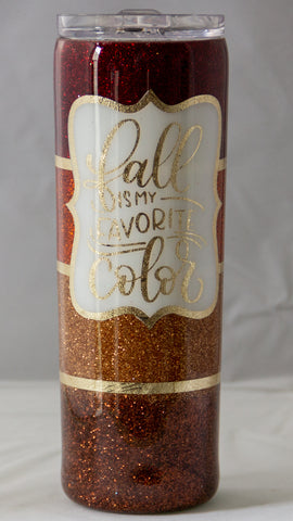 Fall Is My Favorite Color Epoxy 20 ounce Tumbler