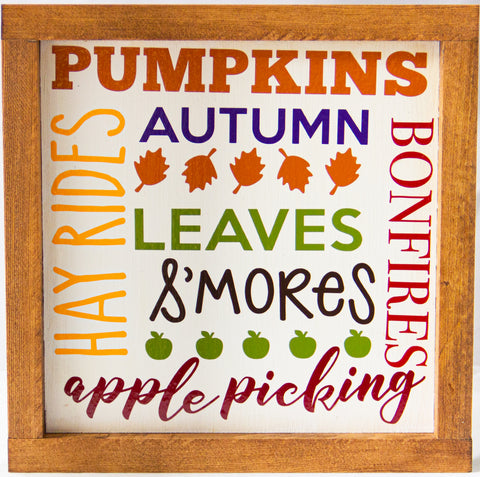 Pumpkins/Hayrides Fall WALL ART 10X10