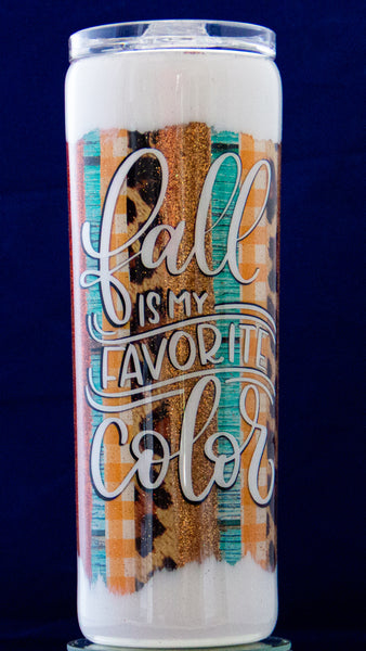Fall Brushstroke Epoxy 20 ounce Tumbler. Fall Is My Favorite Color