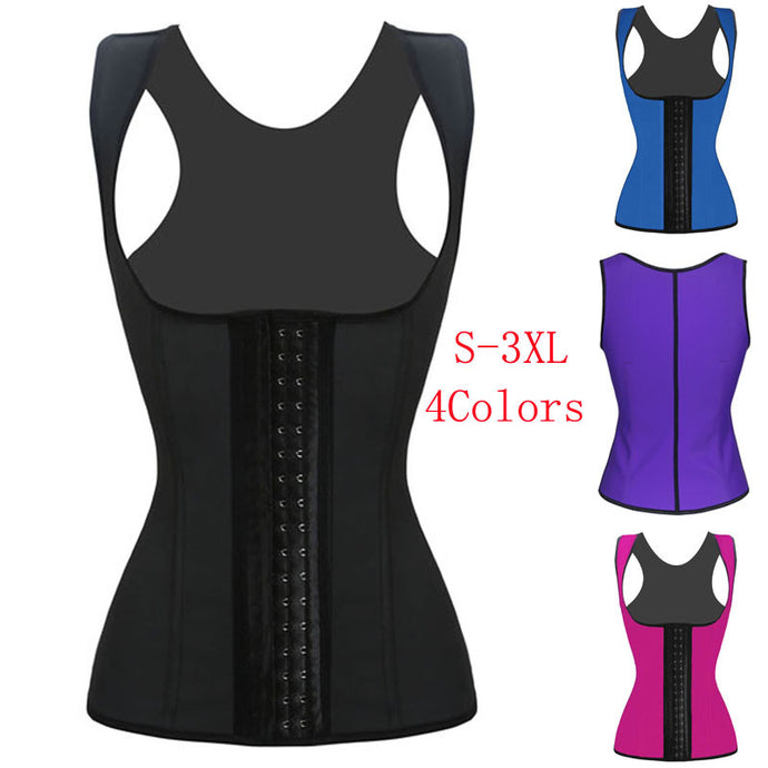 2016 Hot Sale Women Vest Bodyshaper Corset Latex Corset Sexy Women Waist Cincher Slimming Body Shaper Wear Plus Size W88011A