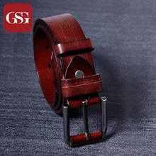GSG Vintage Men Genuine Leather Belt Imported Italian Top Layer Cowhide Waist Strap High Quality Fathers Day Gift