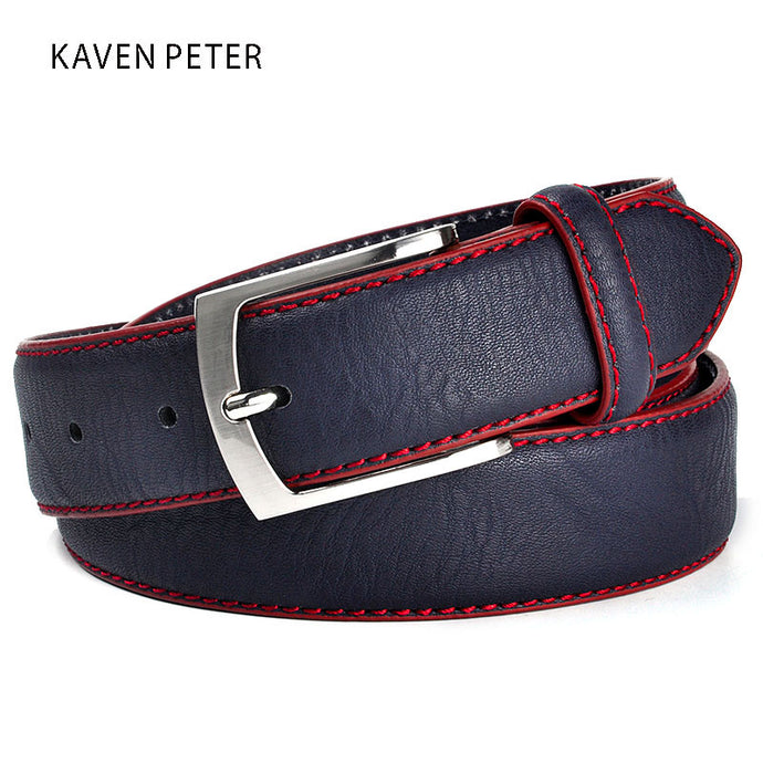 Fashion High Quality Brand Man Belt  Split Leather Belt Italian Design Casual Men's Leather  Belts  For Jeans For Man