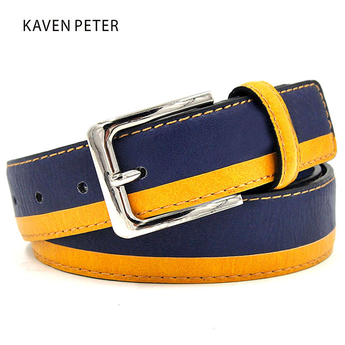 Young Man Leather Belt  Italian Design Casual Men's Belts