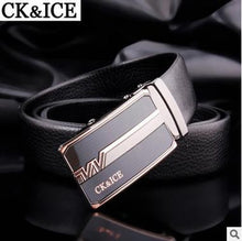 CK&ICE Brand Belts Men High Quality Men's Belts Luxury Automatic Buckle Leather Belts For Men Business Boss Cinturones Hombre