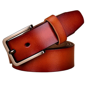 New 2017 Fashion Cow Genuine leather belts for women Luxury belt woman Designer High quality Pin buckle strap Brand girdle