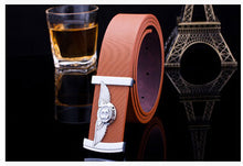 2017 New Arrival Men Brand Designer PU Leather Belts For Business Men And Women Which High Quality luxury Smooth buckle Belt
