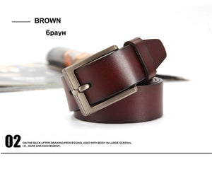 [DWTS] 2016 Mens Cow Genuine Leather Luxury Strap Male Belts for Men black and brown Colors Vintage Pin Buckle Belt Man