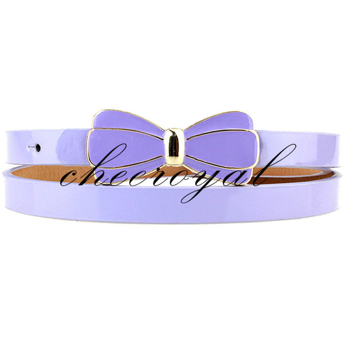 2016 Luxury Brand Colorful Belts for Women Waist Ceinture Femme Bow Leather Belt Style Summer Color Women Belt Female YFN235