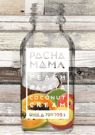 Peach Papaya Coconut Cream by PachaMama E Liquid