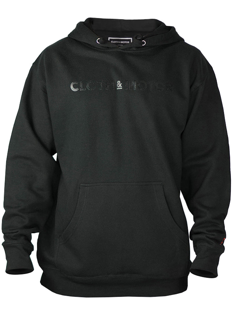 Limited Edition Cloth&Motor Logo Black Foil Print Hoody