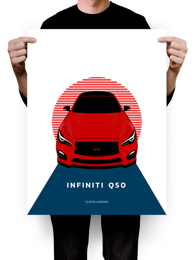 Infiniti Q50 18 x 24 Poster - Limited Edition