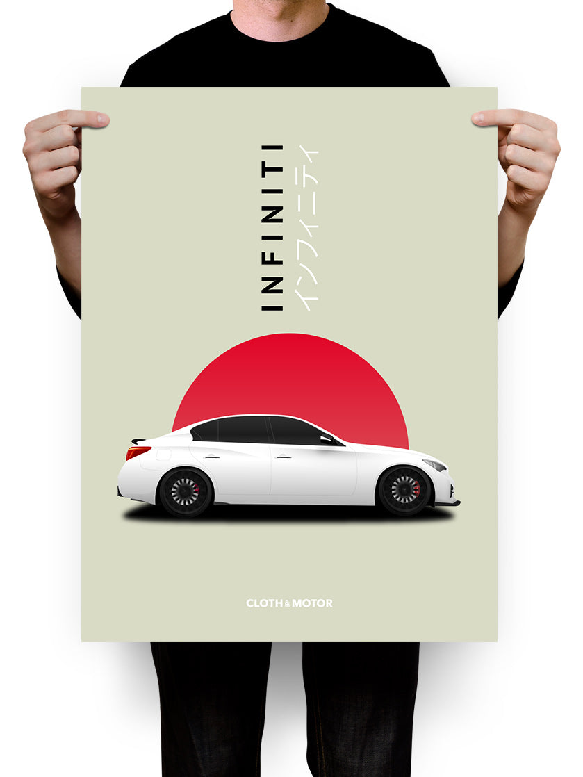 Infiniti Q50 Side View Profile 18 x 24 Poster