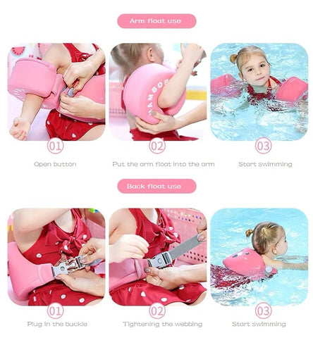 Mambo WaterBabies™ Solid Non Inflatable Baby & Toddler Swimming Arm Ba –  momshack