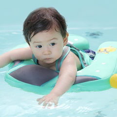 Baby Using Mambo Solid Baby Float Ring