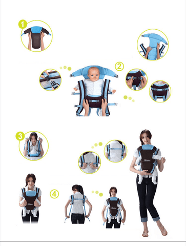 MammaBear™ 4 In 1 Ergonomic Baby Carrier